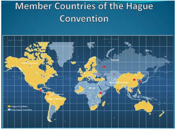 Countries in the UN Hague Convention on Child Abduction